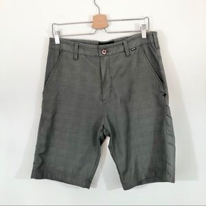 "HURLEY Brown Flat Front Shorts 10"" inseam Sz 30"